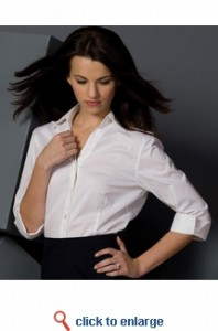 v-neck blouse sharper uniform