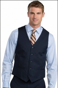 High Button Uniform Vest
