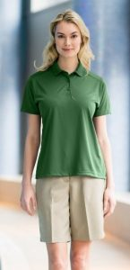 green-womens-polo