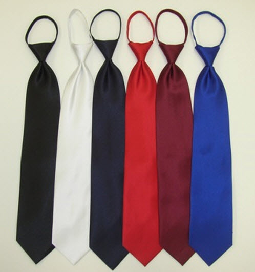Solid Color Zipper Ties