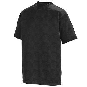 Men's Geo Print Soccer Jersey in Black