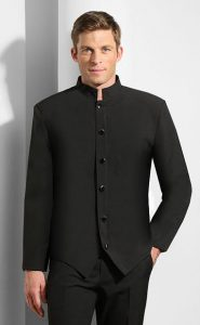 mens black steward jacket