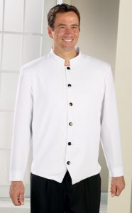 mens white steward jacket from sharper uniforms