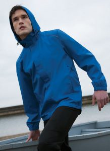 Blue Mens Valet Rain Jacket from Sharper Uniforms